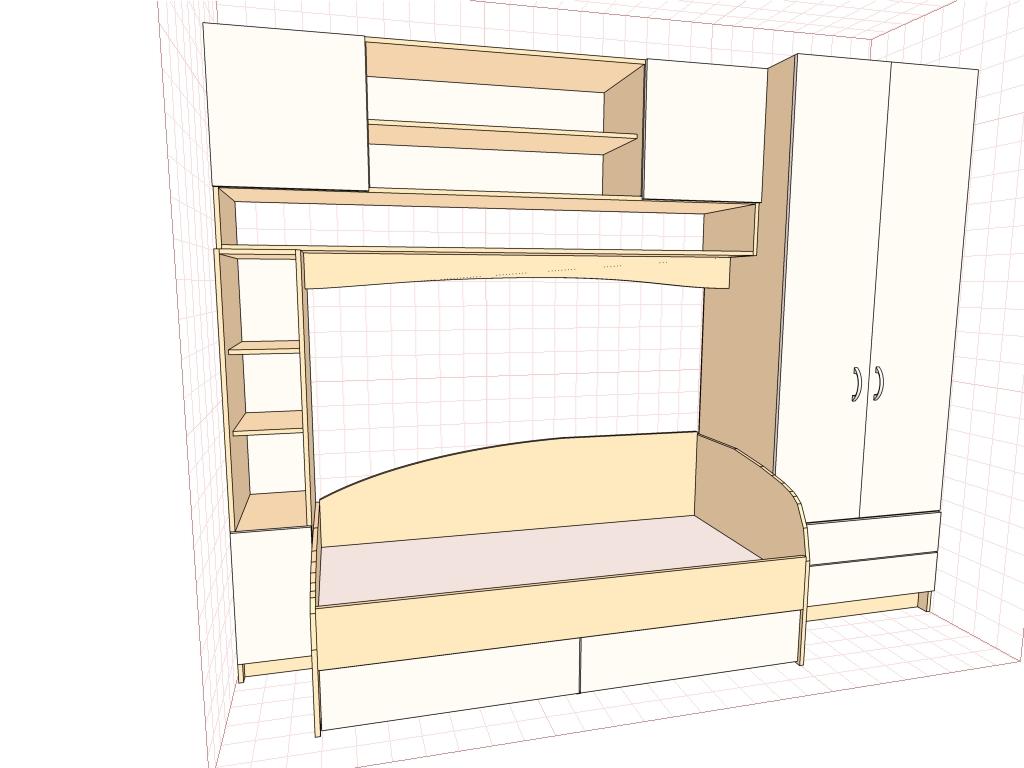 Кровать с ящиками своими руками чертежи